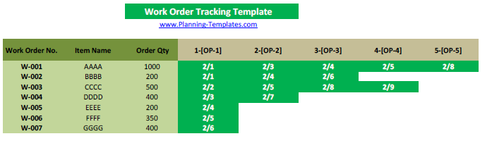 Work Order Template In Excel Free Download Work Order Form Tracking - Production work order template